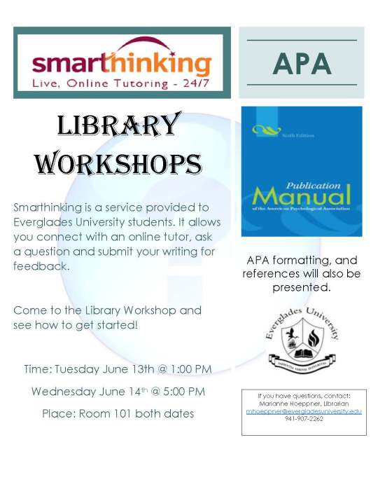 smarthinking apa workshop